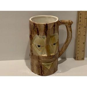 Vintage  Tall Tree Stump Face Mug
